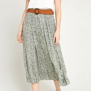 Apricot Maxi Skirt with Belt
